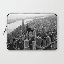 New York City Skyline, Manhattan in Black & White Laptop Sleeve
