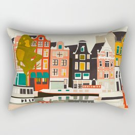 shapes houses of Amsterdam Rectangular Pillow
