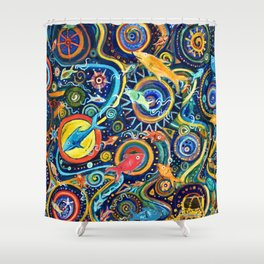 Treasure Hunt Shower Curtain