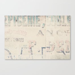 the writing on the wall ... Canvas Print