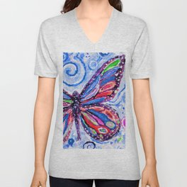Butterfly Painting Unisex V-Neck