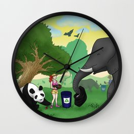 """""""For The Greater Good"""" Wall Clock"""