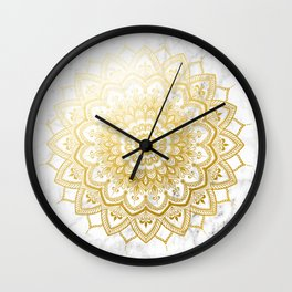 Pleasure Gold Wall Clock