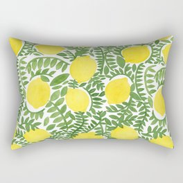 The Fresh Lemon Rectangular Pillow