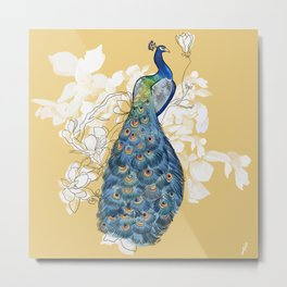 Animalia - The Peacock - Animal kingdom print Metal Print
