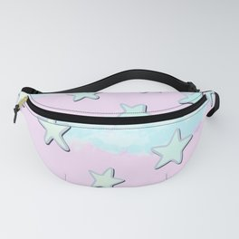 Sweet Pastel Stars And Clouds! Fanny Pack