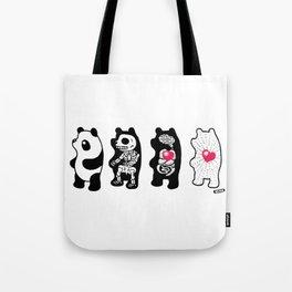 Panda Anatomy Tote Bag