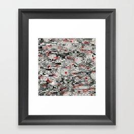 The Flaw Advantage (P/D3 Glitch Collage Studies) Framed Art Print