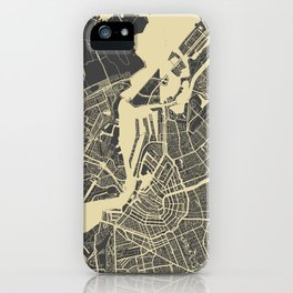 Amsterdam map iPhone Case