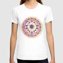 Golden Fire Sri Yantra T-shirt