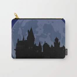 Castle - Blue, Large Moon Carry-All Pouch