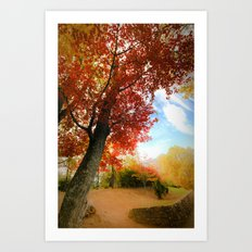 Autumn Tree Scene Art Print