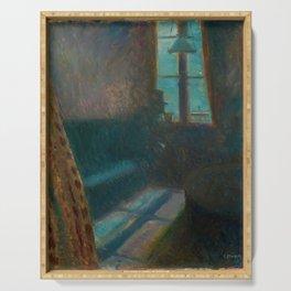 Edvard Munch - Night in Saint-Cloud - Digital Remastered Edition Serving Tray