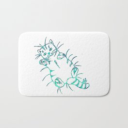 Sparkling cat Bath Mat