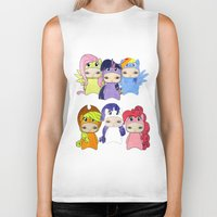 mlp Biker Tanks featuring A Boy - Little Pony by Christophe Chiozzi