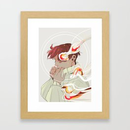 A Calm Flame Framed Art Print