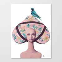gemma correll Canvas Prints featuring Gemma Bunny by Gina Martynova