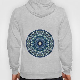 Mandala Marimekko Style Acqua and Blue Hoody