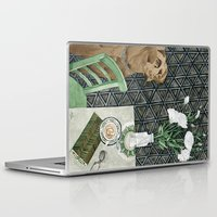 labrador Laptop & iPad Skins featuring Geometry Labrador by Yuliya