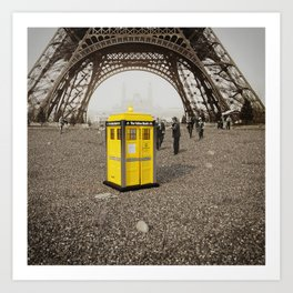 The Yellow Booth at Eiffel Tour! Art Print