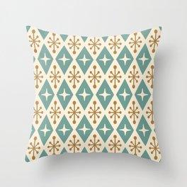 Mid Century Modern Atomic Triangle Pattern 102 Throw Pillow