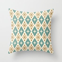 Mid Century Modern Atomic Triangle Pattern 102 Throw Pillow