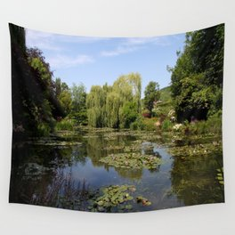 Monets Waterlily Pond Wall Tapestry