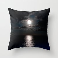 moonrise Throw Pillows featuring Moonrise by Craig Treadwell