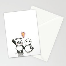 Love is in the air - Panda  Stationery Cards