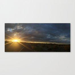 Road Sunset Canvas Print