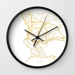 MARSEILLE FRANCE CITY STREET MAP ART Wall Clock