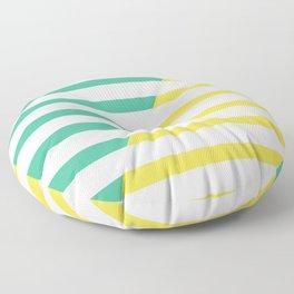 Beach Stripes Green Yellow Floor Pillow