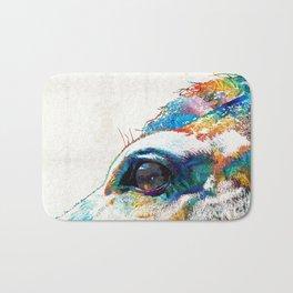 Colorful Horse Art - A Gentle Sol - Sharon Cummings Bath Mat