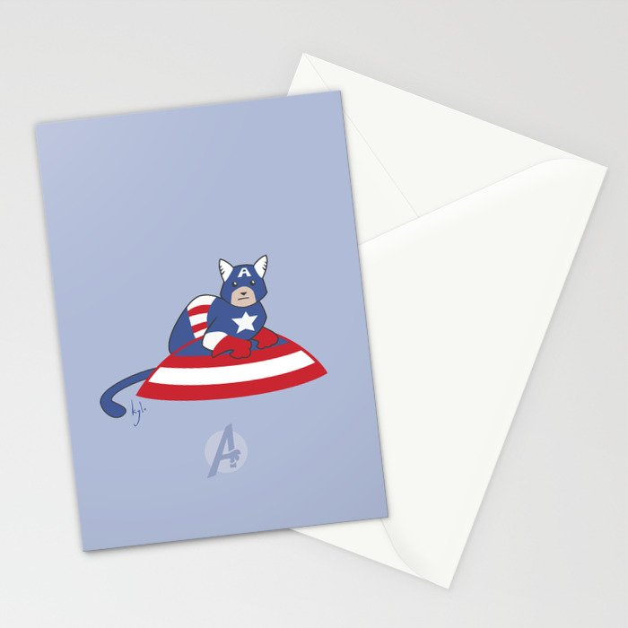 Captain AmeriCAT: The First Catvenger Stationery Cards