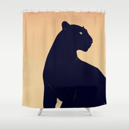 Sunset Black Panther Shower Curtain