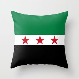 Syrian Independence Flag  High quality Throw Pillow