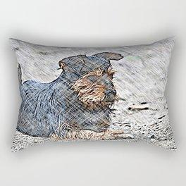Impressive Animal - sketchy Dog Rectangular Pillow