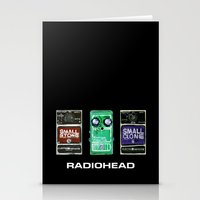 radiohead Stationery Cards featuring Radiohead Pedals Bedroom Rockstar  by James Peart