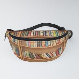 Bookshelf Books Library Bookworm Reading Fanny Pack
