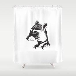Ms. Raccoon Shower Curtain