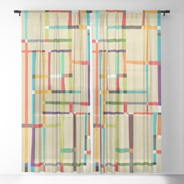 The map (after Mondrian) Sheer Curtain