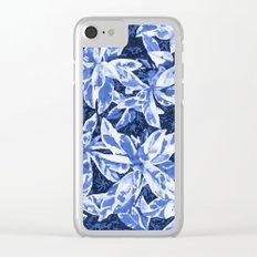 Aloha Blue Clear iPhone Case