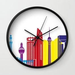 Jeddah skyline pop Wall Clock