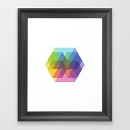 Fig. 040 Hexagon Shapes Framed Art Print