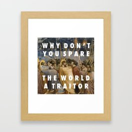 Obvious Arrest Framed Art Print