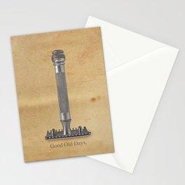 vintage gillette.good old days Stationery Cards