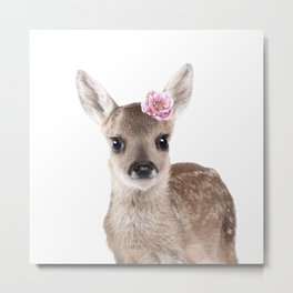 flower deer Metal Print