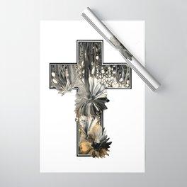 Fluid Art Cross Wrapping Paper