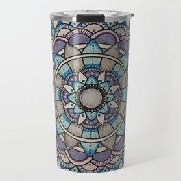 Cool tone mandala Travel Mug
