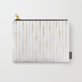 NYC Nights Gold Polka Dot Stripes Carry-All Pouch